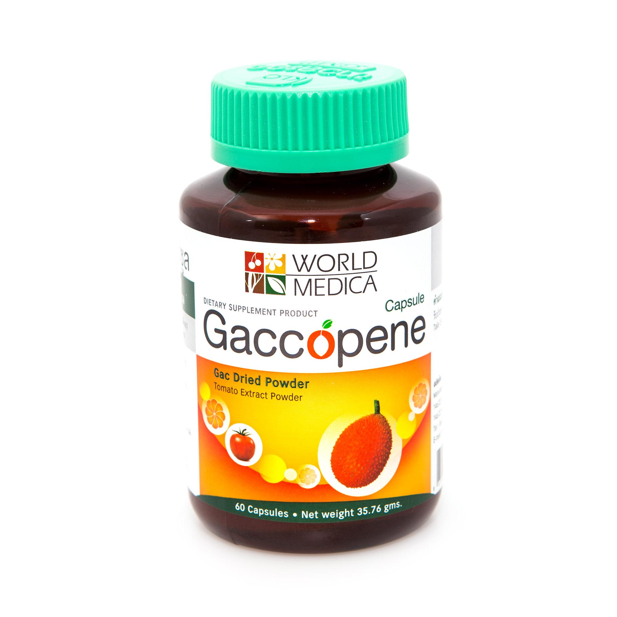 Gaccopene ไลโคปีนธรรมชาติ คงคุณค่าผิวสวย ชะลอต่อมลูกหมากโต 60 แคปซูล