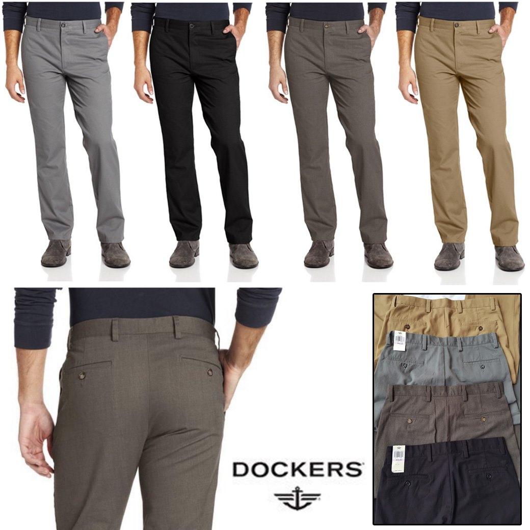 DOCKERS The Clean Easy Khaki Slim Fit Pants