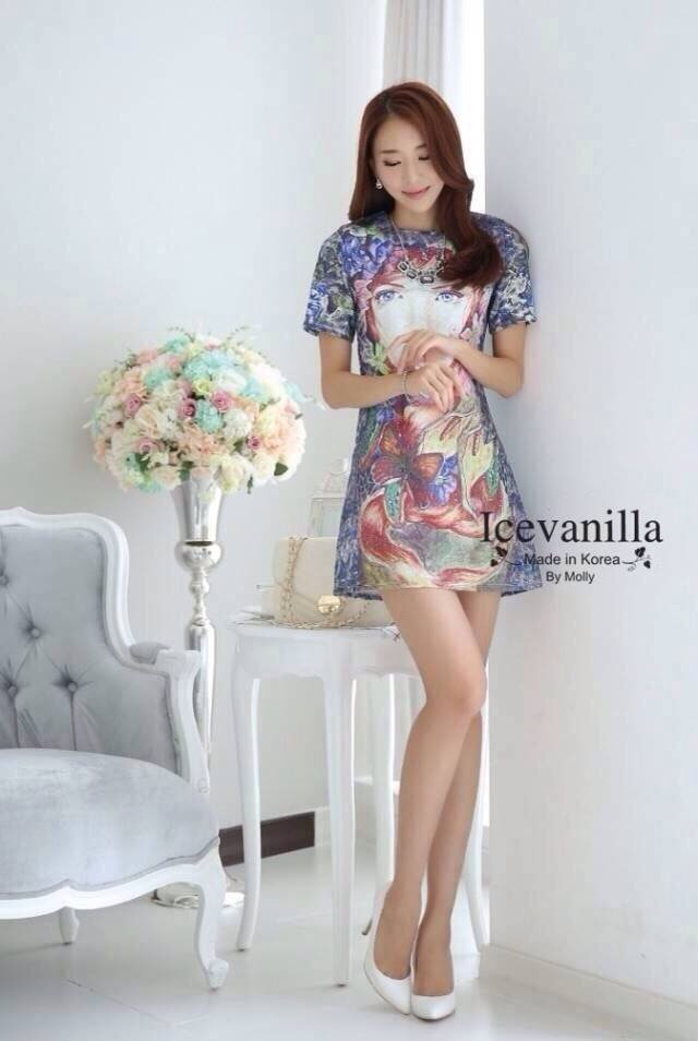Retro 3D exaggerated line Dress