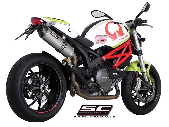 SC Project Full system Oval Titanium for Ducati Monster 796