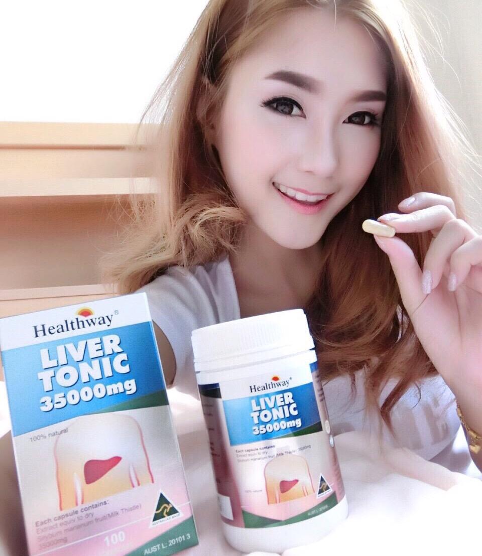อาหารเสริมบำรุงร่างกาย และตับ (Healthway Liver Tonic 35000 mg)