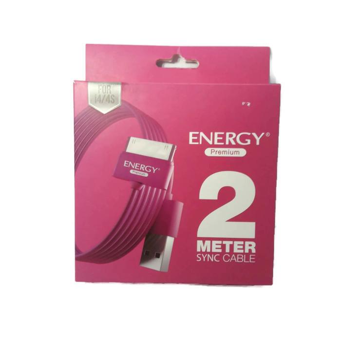 สายชาร์จและส่งผ่านข้อมูล Energy Premium Sync Cable Colorful USB for iPhone 4/4s