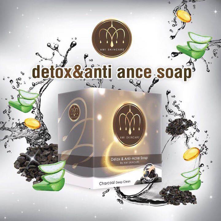 สบู่ดีท็อกซ์ แอนตี้ แอคเน่ by ami (Detox & Anti Acne by Ami skincare)
