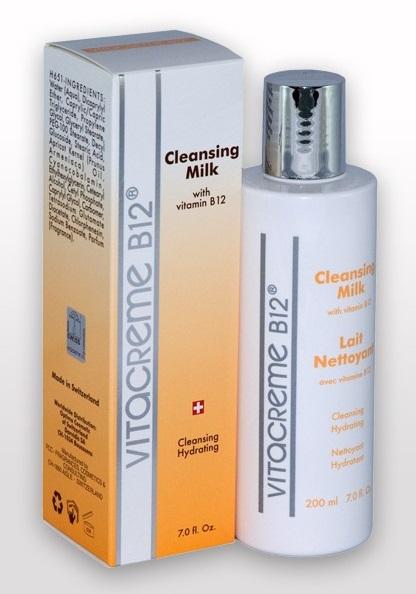 ลด 45 % VITACREME B12 :: Cleansing Milk น้ำนมล้างหน้า ทำความสะอาดล้ำลึก ให้ความชุ่มชื่น สามารถล้างเครื่องสำอางสูตรกันน้ำได้