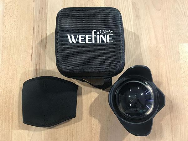 เช่า : Weefine Dome Port Ultra-Wide Angle Conversion Lens หน้า 52mm