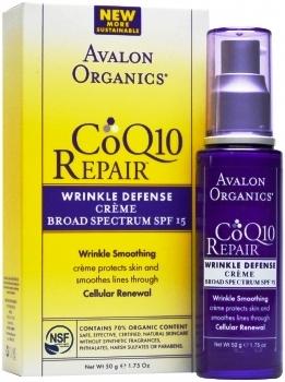 ลด 30 % AVALON ORGANICS :: CoQ10 Repair - Wrinkle Defense Creme Broad Spectrum SPF15 ป้องกันริ้วรอยกระตุ้นสร้างคอลลาเจน อ