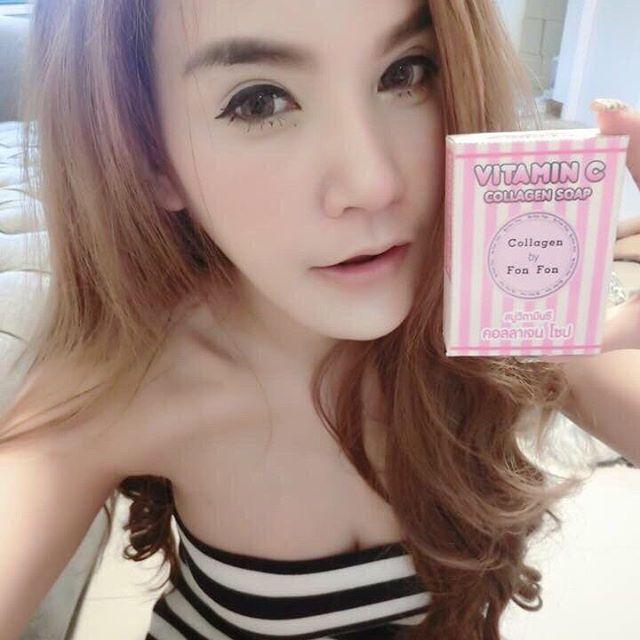 สบู่ฝนฝน วิตามินซี คอลลาเจน (Vitamin-C collagen soap By Fon Fon)
