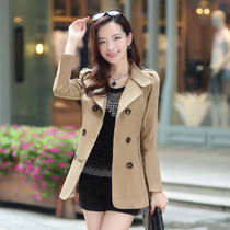 NW5803001 เสื้อกึ่งสูทกันลมสาวเกาหลี กระดุมหน้าสองแถว(พรีออเดอร์) รอ 3 อาทิตย์หลังโอน