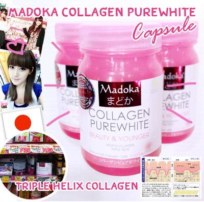 Madoka collagen pure white แบบแคปซูล มาโดก้า คอลลาเจน เพียวไวท์ แบบ แคปซูลตัวนี้เข้มข้นกว่าตัวเดิมแบบชงมากค่ะ ทานง่าย พกพาสะดวก ไม่ต้องชง