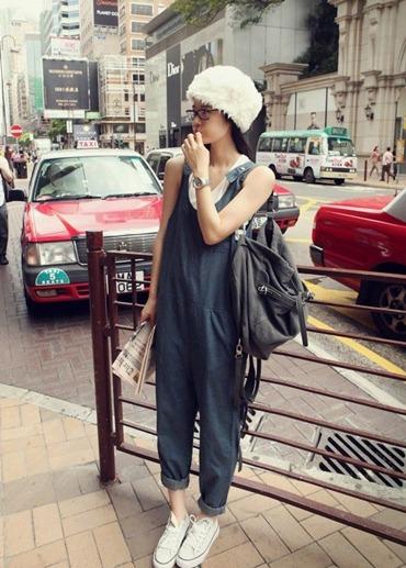 OW5707003 เอี้ยมยีนส์ สาวหวานซ่อนเปรี้ยวขายาว น่ารัก แฟชั่นเกาหลี (พรีออเดอร์)