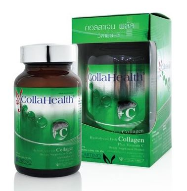 CollaHealth Collagen Plus Vitamin C คอลลาเฮลท์ คอลลาเจน พลัส วิตามิน ซี บรรจุ 100 เม็ด (colla health)