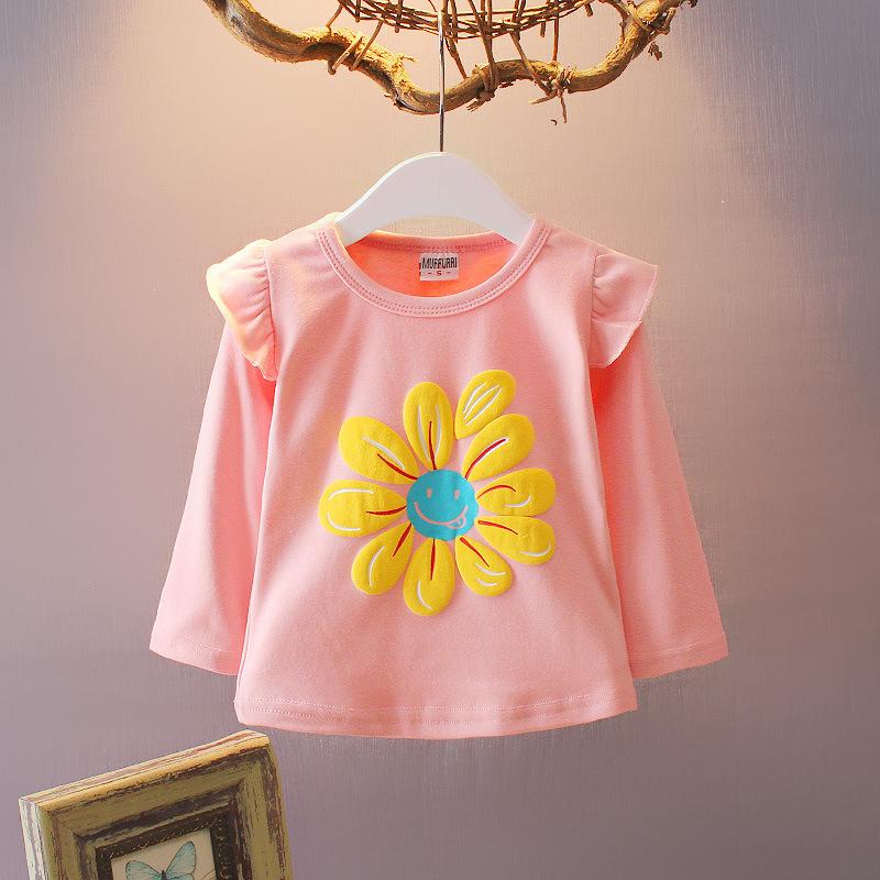 **เสื้อแขนยาวสีชมพูลายดอกไม้ตามรูป size: S-XL(4pcs/pack)   4ตัว/แพ๊ค   เฉลี่ย 110/ตัว
