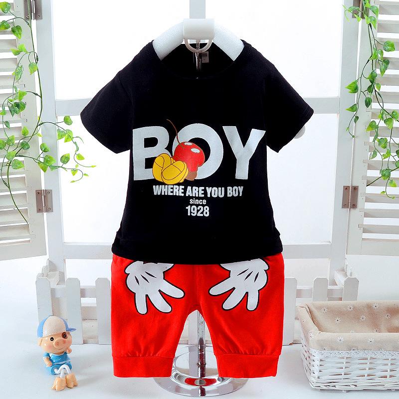 **ชุดเซ็ตเสื้อดำBOYกางเกงขาสั้น size: S-XL (4 pcs/pack) | 4ชุด/แพ๊ค | เฉลี่ย 170/ชุด