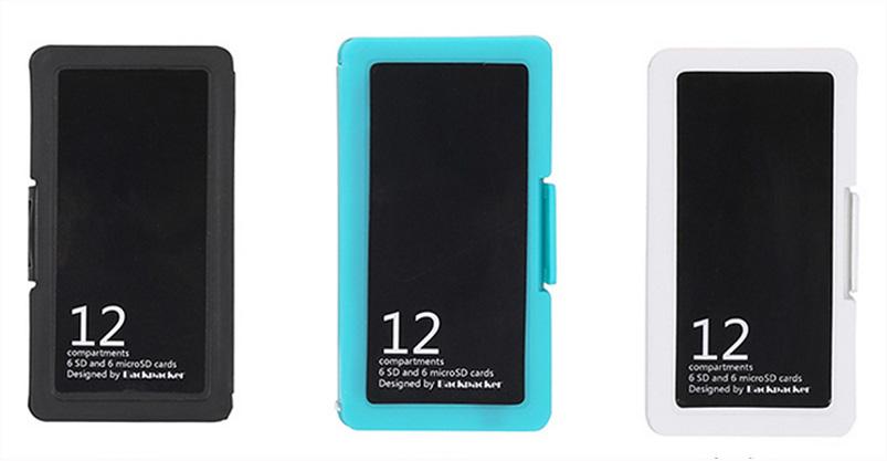กล่องใส่เมมโมรี่การ์ด สุดสวย 6 SD 6 MicroSD มี 3 สี