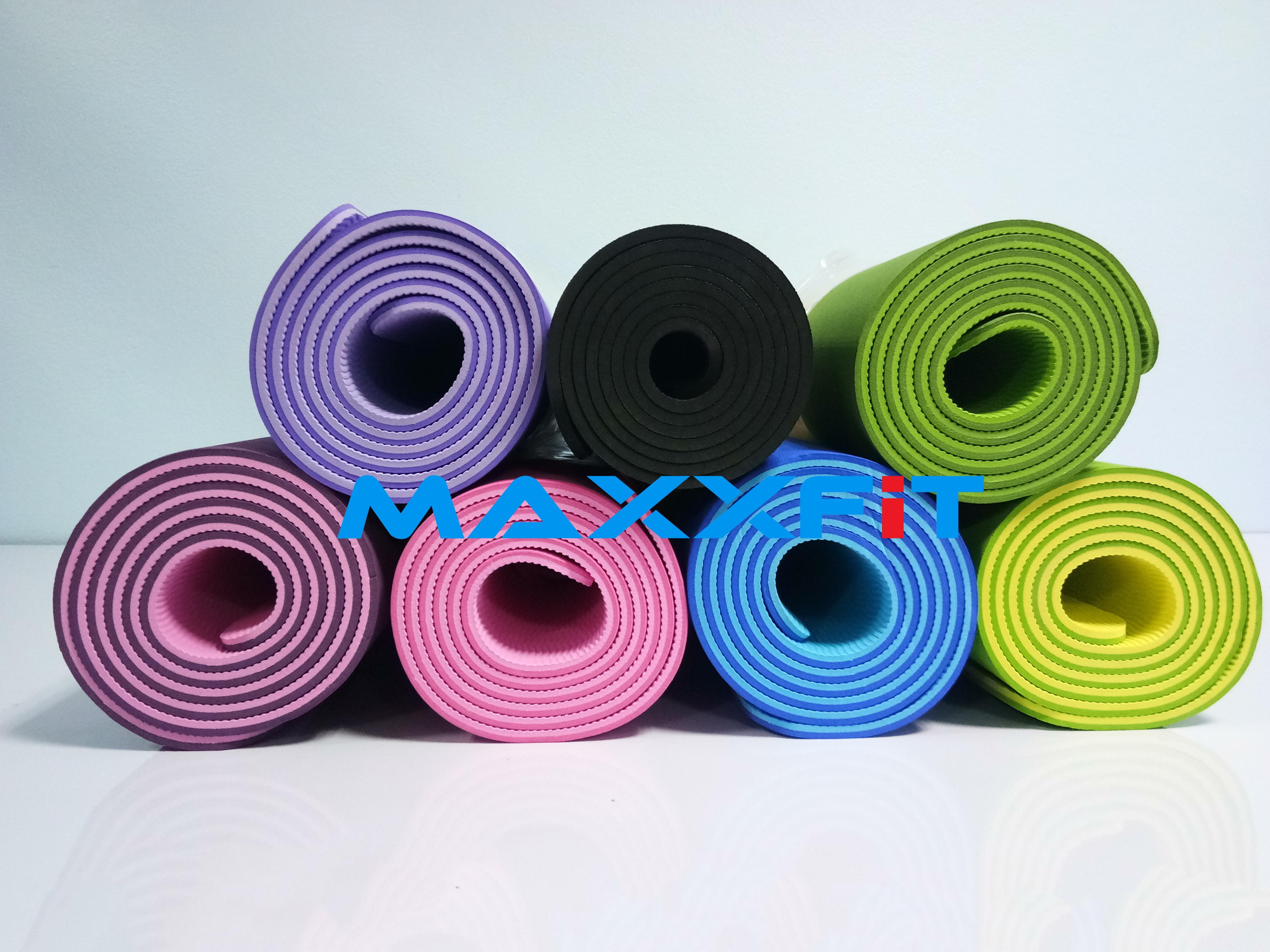 ขาย เสื่อโยคะ (Yoga Mat) TPE 2 Layers เกรด A ขนาด 6 MM.