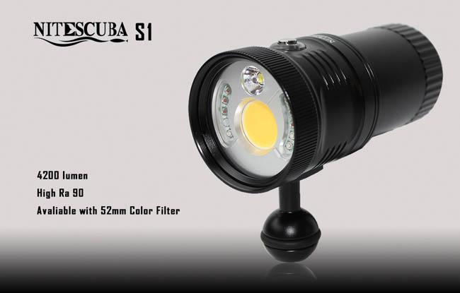 NiteScuba S1 Video Light 4200lumens