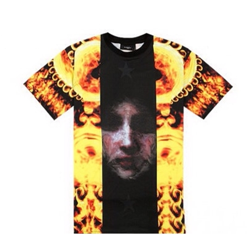 Givenchy Flame and Madonna Print T-shirt