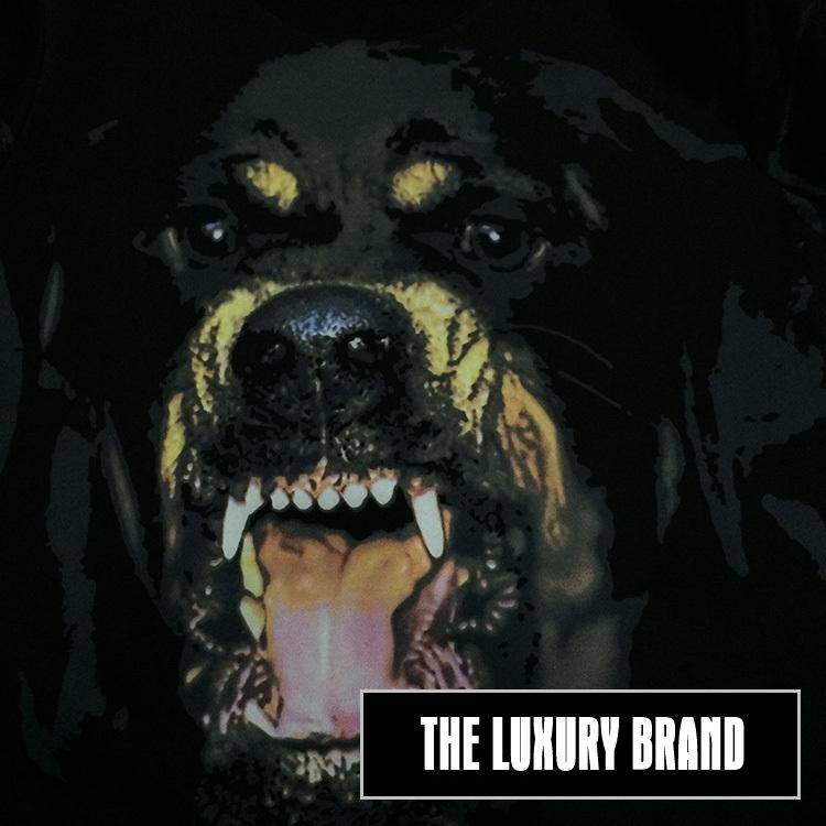 GIVENCHY เสื้อแขนยาวคอกลม ผ้าคอตตอน ลาย Rottweiler สีดำ Detail 3
