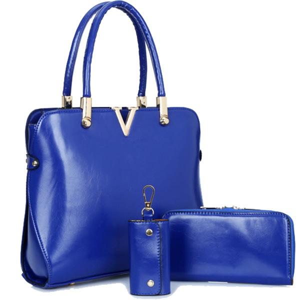 เซตนี้คุ้มสุด!! กระเป๋าจัดเซต 3ใบ ได้ทั้งกระเป๋าสะพายใบใหญ่ /กระเป๋าสตางค์ และกระเป๋าใส่พวงกุญแจ