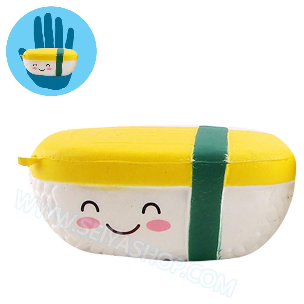 CB307 สกุชชี่ sushi ข้าวปั้น ขนาด 10 cm (Super Soft) ลิขสิทธิ์แท้