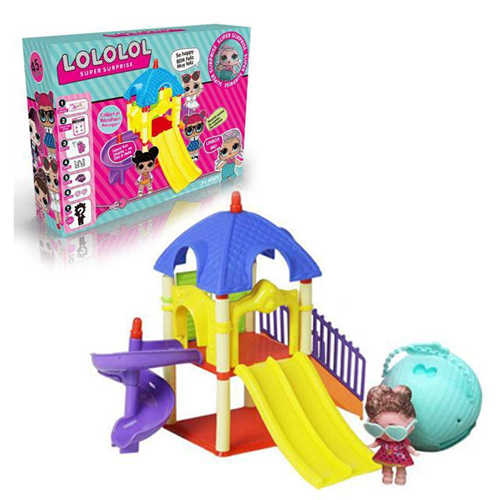 LC08 L.O.L Paly Set สนามเด็กเล่น พร้อม LOL ตุ๊กตาเซอร์ไพร์ส 7 ชั้น 1 ลูก