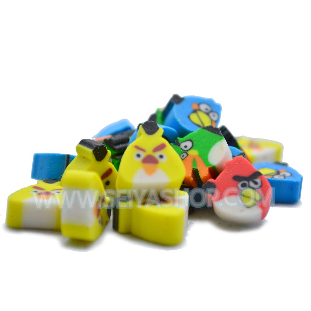 KD012 ยางลบ ฟีโม่ Angry Birds ทำงาน Deco หรือ ตกแต่งสไลม์ 1 ชุด