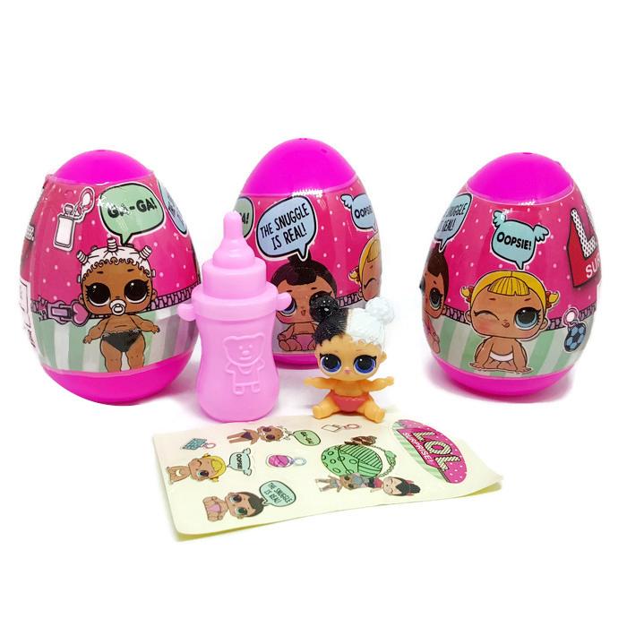 LO017 L.Q.L Egg Surprise Sister แพ๊ค 3 ลูก (คละแบบ)