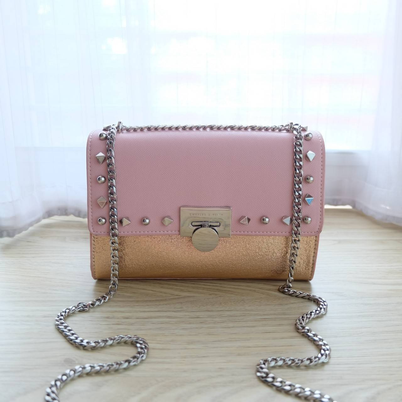 Charles & Keith Stud-Detail Clutch New Collection 2018