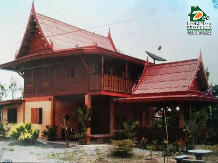 เรือนไทยไม้สัก ริมน้ำ บ้านบางสะแก บางตะเคียน สองพี่น้อง สุพรรณบุรี