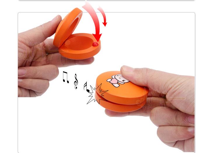 เครื่องดนตรี กรับไม้สำหรับเด็ก คละลาย