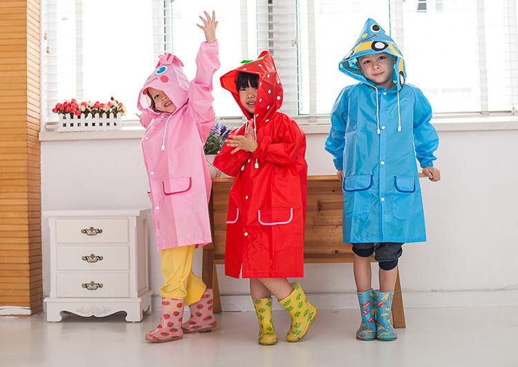 เสื้อกันฝนเด็ก Funny Rain Coat แฟชั่นญี่ปุ่นน่ารักๆ