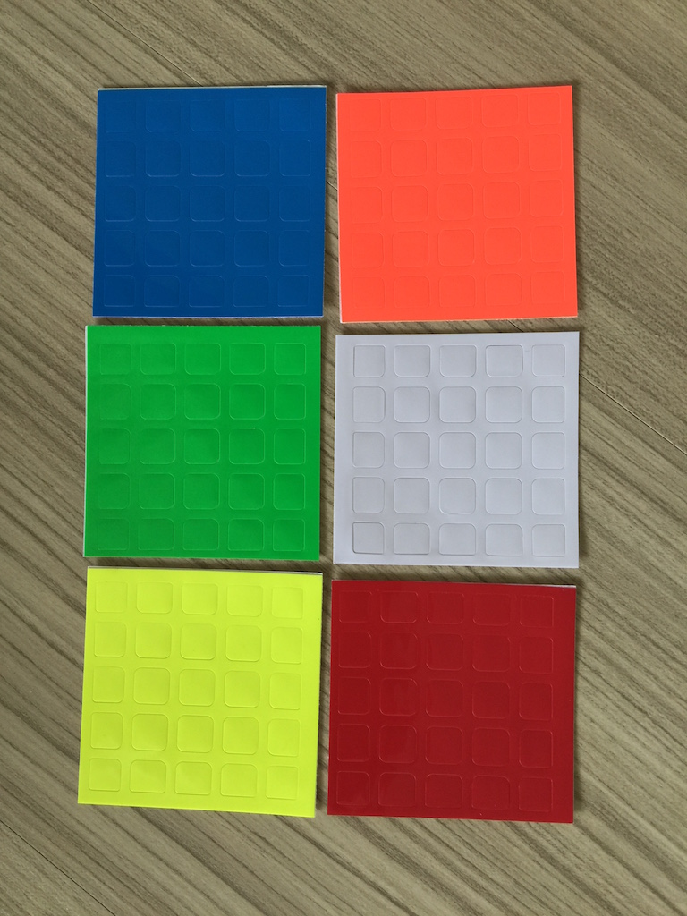 Sticker for MoYu 5x5x5