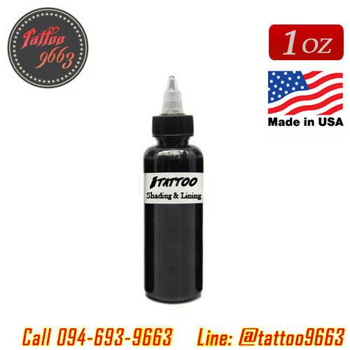 [iTATTOO] หมึกสักไอแทททู หมึกสักลายสีดำ สีสักลายสำหรับลงเส้นและลงเงา ขวดแบ่งขายขนาด 1 ออนซ์ สีสักนำเข้าจากประเทศอเมริกา iTattoo Tattoo Black Ink for Shading & Lining (1OZ/30ML)