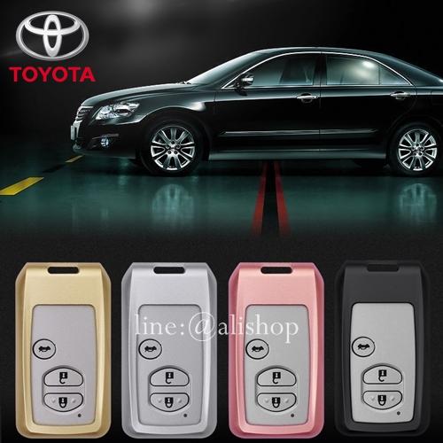 กรอบ-เคส ใส่กุญแจรีโมทรถยนต์ รุ่นไทเทเนียม Toyota Prius,Camry Keyless รุ่น 3 ปุ่มกด