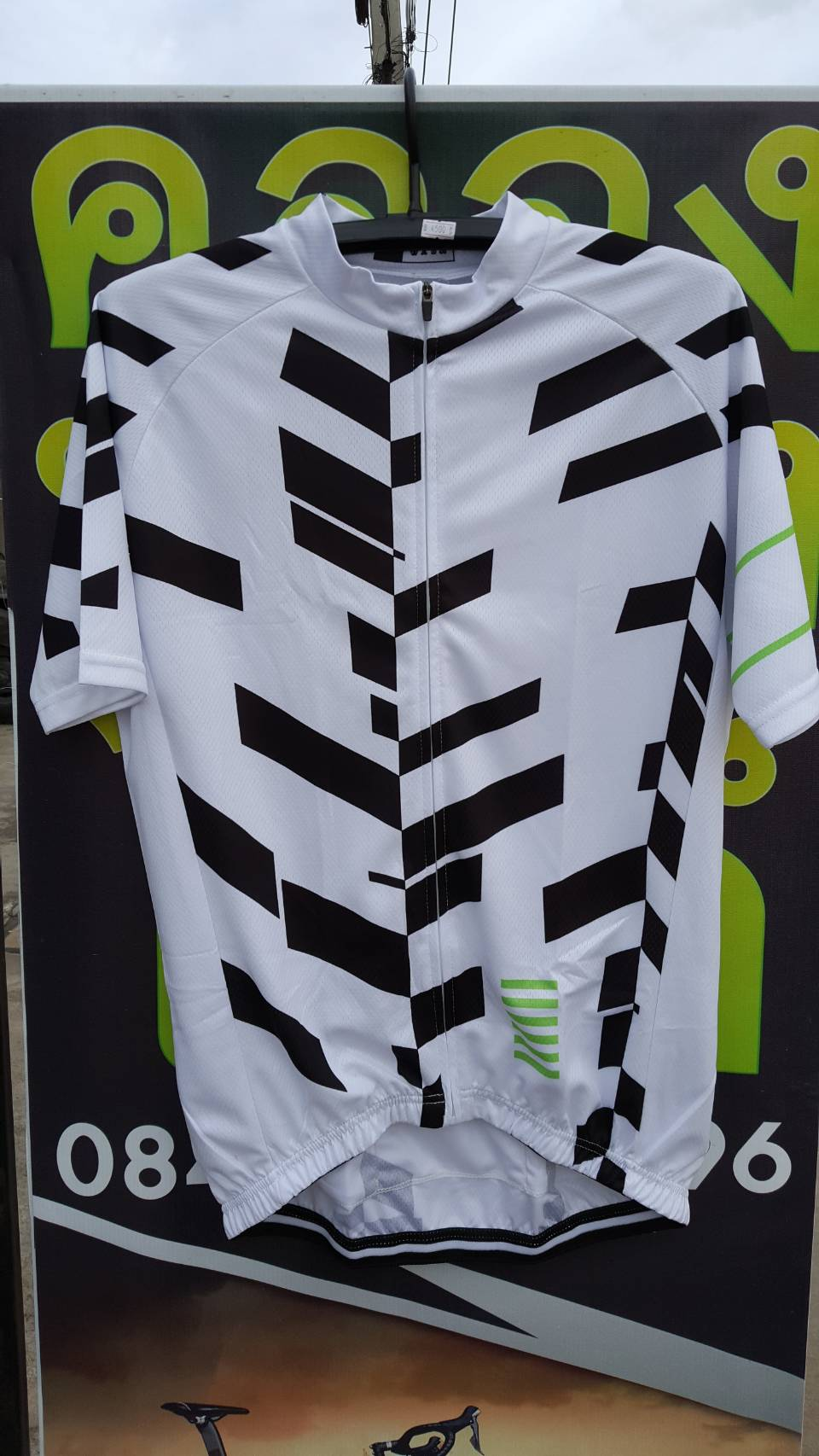 เสื้อปั่นจักรยาน ลายขาวดำ