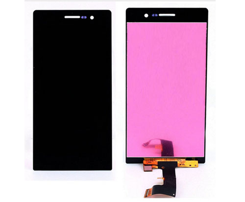 ราคาหน้าจอชุด+ทัชสกรีน Huawei P7 อะไหล่เปลี่ยนหน้าจอแตก ซ่อมจอเสีย สีดำ