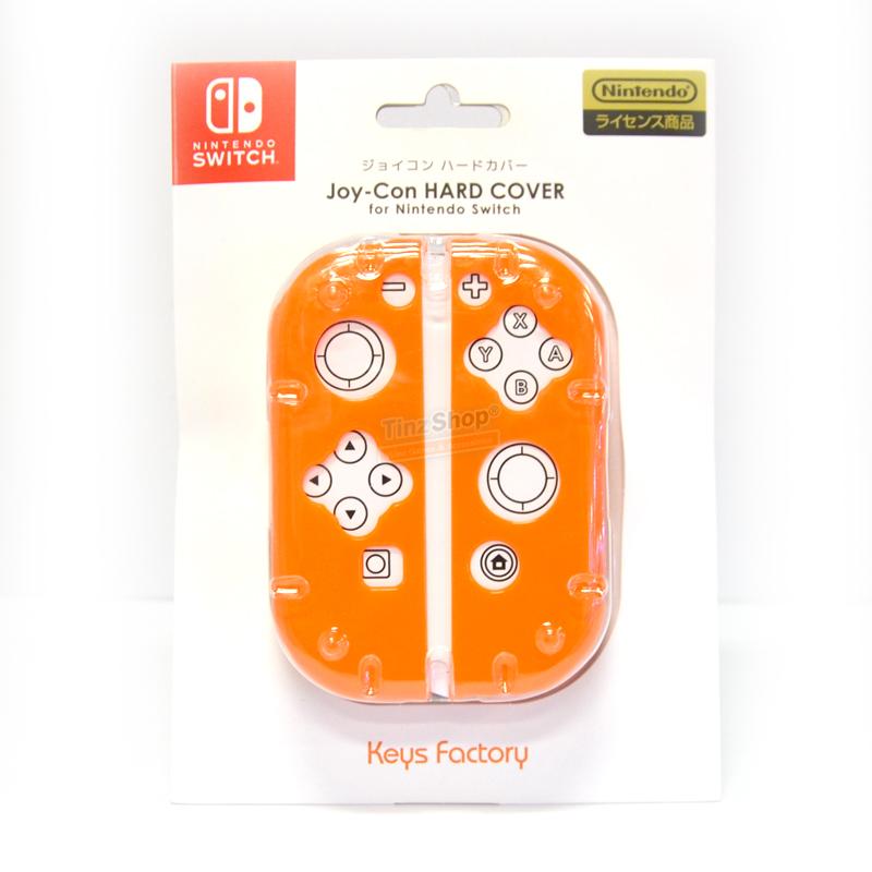เคสพลาสติกแข็งสำหรับ Joy-Con ยี่ห้อ Keys Factory™ จากญี่ปุ่น สีส้ม [NJH-001-4 Orange] ราคา 390.- ส่งฟรี
