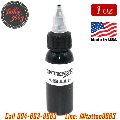 [INTENZE] หมึกสักอินเทนซ์ หมึกสักลายอินเทนส์ สีสักลายสีดำ สีสักลายสีดำสำหรับงานสักเดินเส้น ขวดแบ่งขาย ขนาด 1 ออนซ์ สีสักนำเข้าจากประเทศอเมริกา Intenze Formula 23 Intenze Tattoo (1OZ)