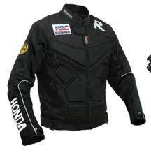 ชุดขี่มอเตอร์ไซค์ เสื้อแจ็คเก็ต เสื้อการ์ดอ่อน DUHAN HONDA ไซส์ L สีดำ