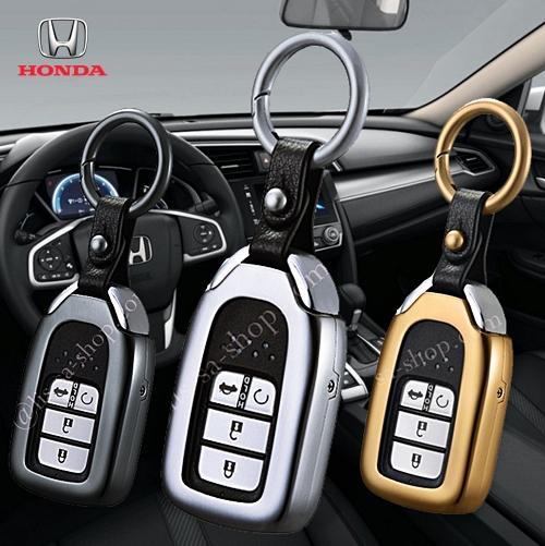 กรอบ-เคส ใส่กุญแจรีโมทรถยนต์ All New Honda Accord,Civic 2016-17 Smart Key 4 ปุ่ม (รุ่นถอดดอกกุญแจออกได้)