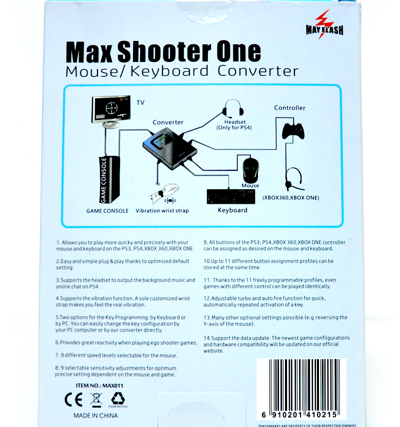 MAYFLASH Max Shooter One Keyboard and Mouse Adapter