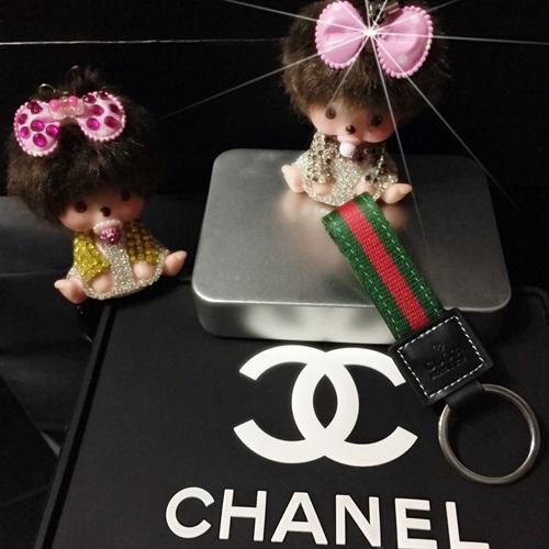 สายห้อยพวงกุญแจ Gucci Key Chain พวงกุญแจ Gucci ลายคลาสสิก