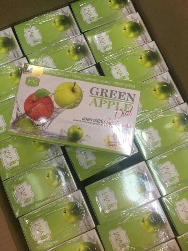 ViVi GREEN APPLE Diet อาหารเสริม คอลวีว่า น้ำชงแอปเปิ้ล