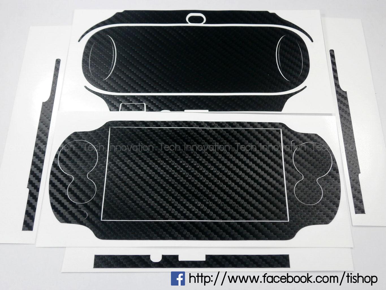 PSV1000 สติ๊กเกอร์ลายคาร์บอนไฟเบอร์ สีดำ