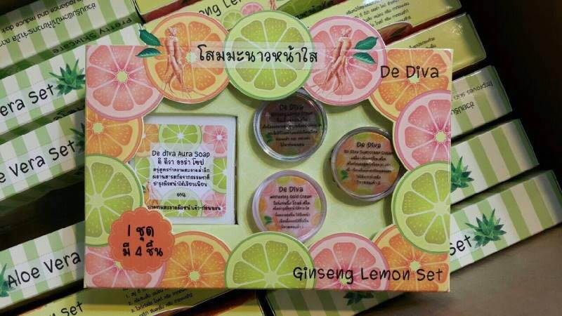 โสมมะนาวหน้าใส De Diva Ginseng Lemon Set