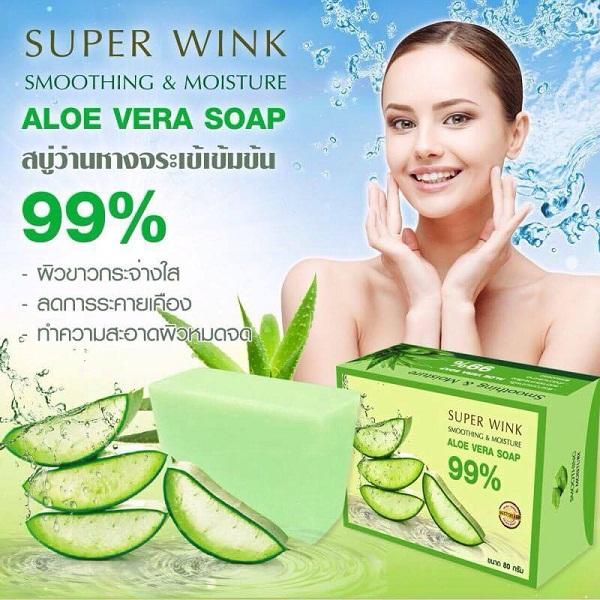 สบู่ว่านหางจระเข้เข้มข้น ALOE VERA Soap 99%