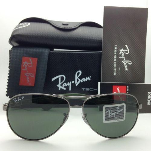 RAY BAN Aviator RB8313 004/N5 Tech Carbon fiber Gunmetal Polarized lens