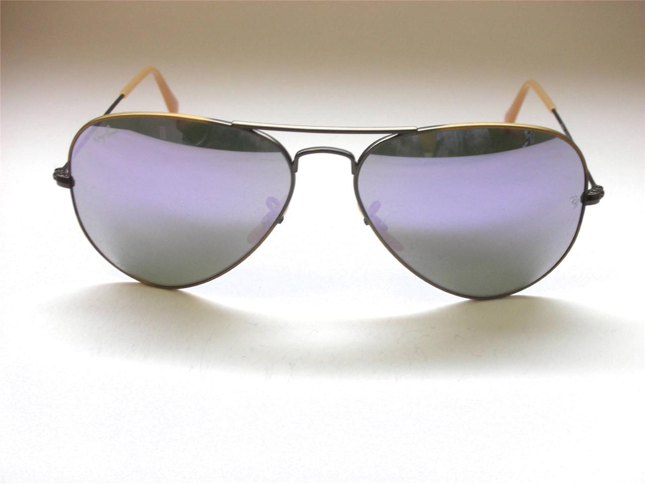 Ray Ban RB3025 167/4k Aviator Lilac mirror Brushed Bronze