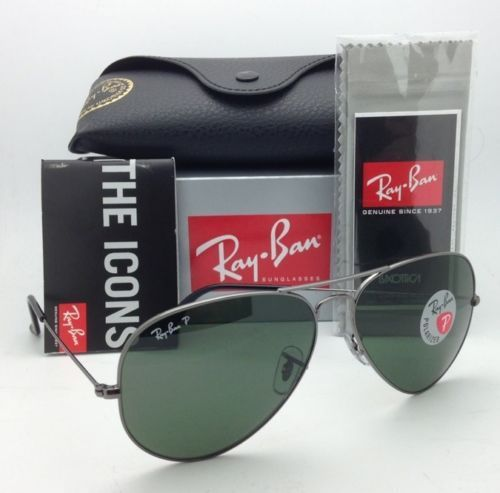 Ray Ban RB3025 004/58 Aviator Polarized Gunmetal 58/62mm