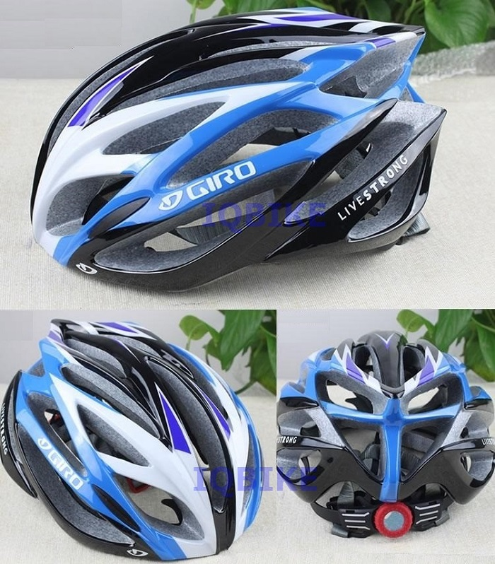หมวก GIRO LIVESTRONG สีฟ้าดำ